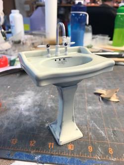 Bathroom sink ready for paint