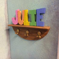 Julie's finished coat rack