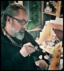 Greg paints Julie faces