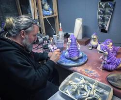 Greg paints the gumps