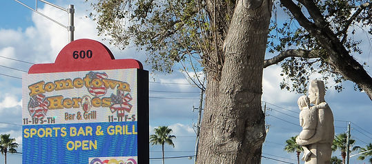 Sign in front of Sarasota Shrine Center