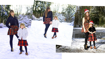 Mother / Daughter Christmas / Winter Photoshoot