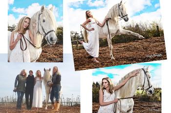 A Model & A White Stallion