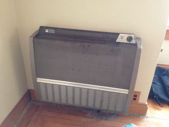 Gas heater removed