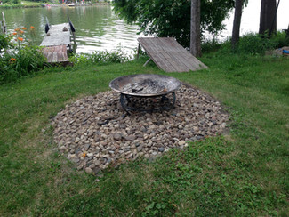 New fire pit