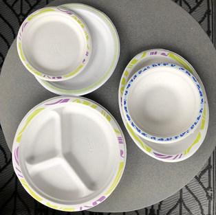 Mintás papír tányérok