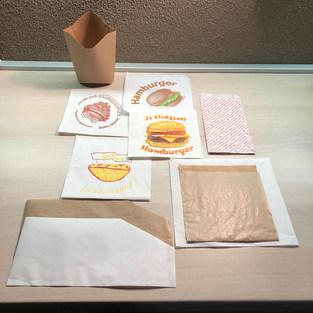 Hot Dog, hamburger, lángos, gyros tasakok