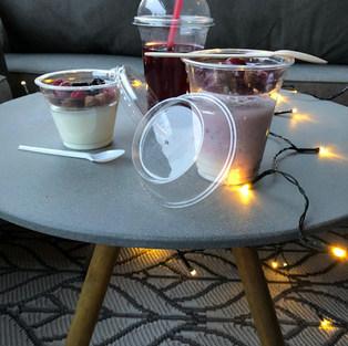 Shakerek, tetővel és pohárbetéttel