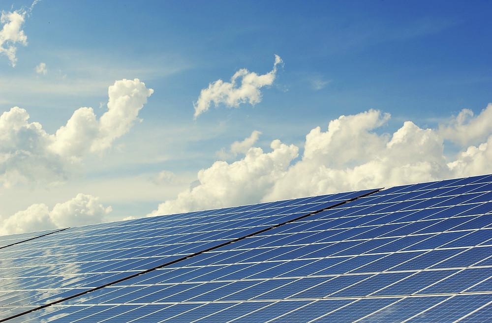 Solar power replacing coal.