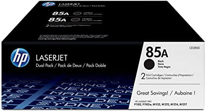 HP 85A 2-Pack Black Toner Cartridge (CE285D)