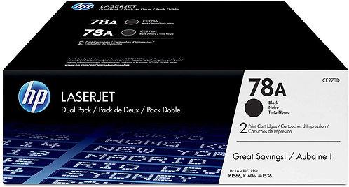 HP 78A 2-Pack Black Toner Cartridge (CE278D)