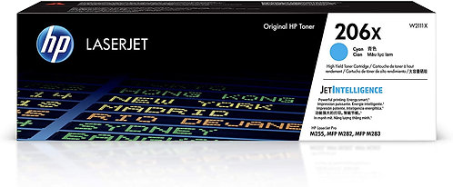 HP 206X High Yield Cyan Toner Cartridge (W2111X)