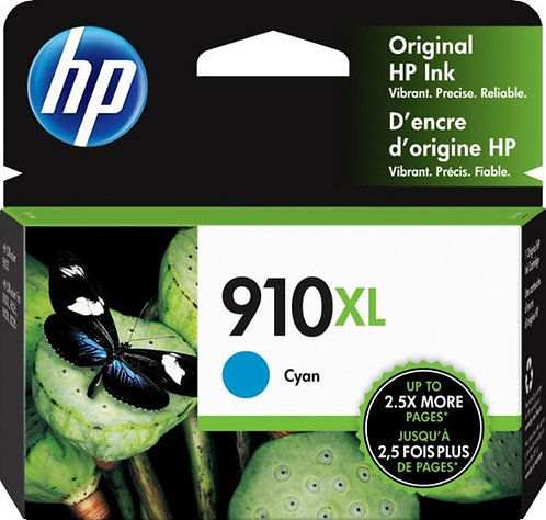 HP 910XL High Yield Cyan Ink Cartridge