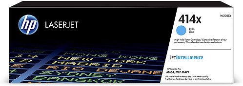 HP 414X High Yield Cyan Toner Cartridge (W2021X)