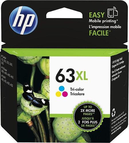 HP 63XL High Yield Tri-color Ink Cartridge