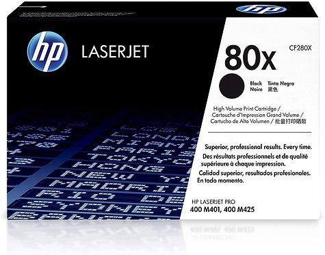 HP 80X 2-Pack High Yield Black Toner Cartridge (CF280XD)