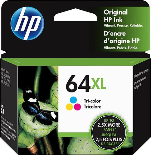 HP 64XL High Yield Tri-color Ink Cartridge