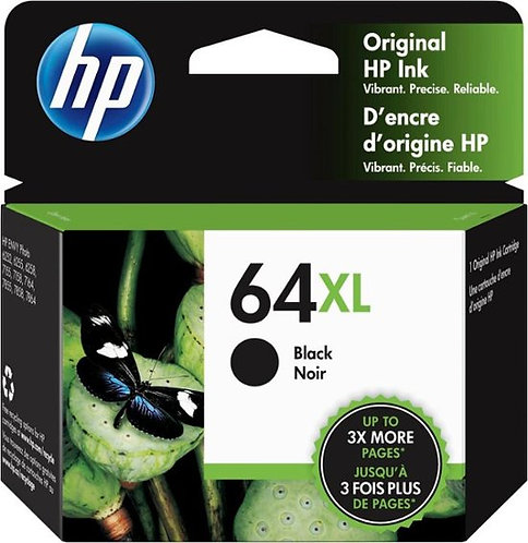 HP 64XL High Yield Black Ink Cartridge