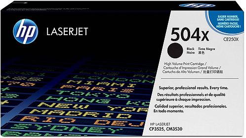 HP 504X High Yield Black Toner Cartridge (CE250X)