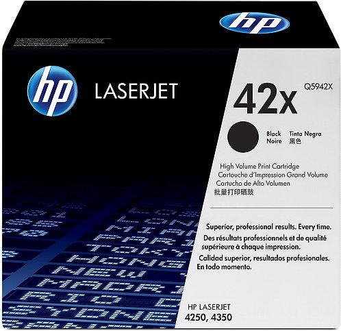 HP 42X High Yield Black Toner Cartridge (Q5942X)