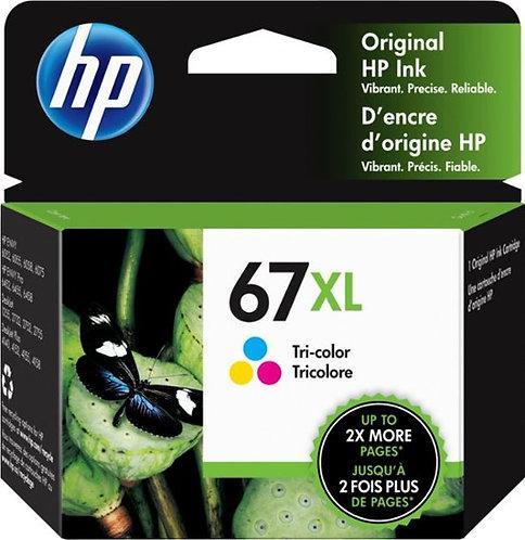 HP 67XL High Yield Tri-color Ink Cartridge