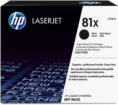 HP 81X High Yield Black Toner Cartridge (CF281X)