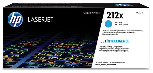 HP 212X High Yield Cyan Toner Cartridge (W2121X)