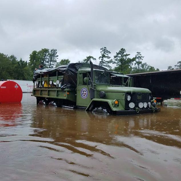 Hurricane Harvey High Water Rescue Vehicle
