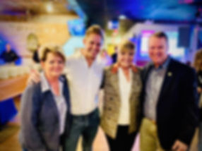 Lori Williams, President of the Mansfield Chamber of Commerce, Dustin Strong of Strong On Health, Fort Worth Mayor Betsy Price, Mansfield Mayor David Cook. Eat Ths Way kick-off event.