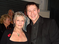 Magician Dorian with Dame Judi Dench