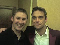 Dorian with Robbie Williams