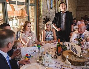 Dorian entertaining at Ellie and Dan's Wedding