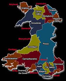 Magician Wales Map