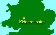 Kidderminster map