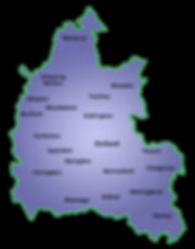 Oxfordshire map of areas covered by magician Dorian