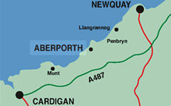Aberporth Map