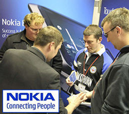 Magician Dorian working on NOKIA exhibition stand