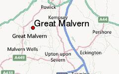 GREAT MALVERN map