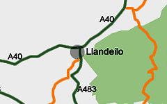 Llandeilo map
