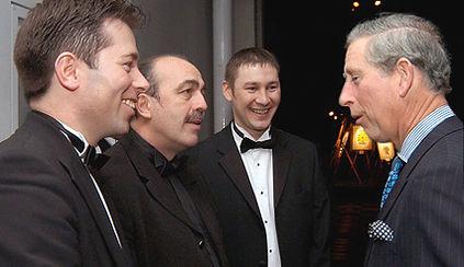 Dorian meeting HRH Prince Charles.