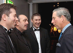 Dorian with HRH Prince Charles