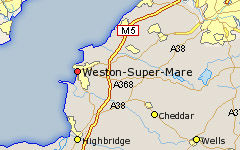 Weston-super-Mare map