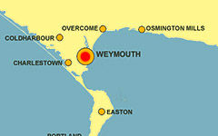 Weymouth map