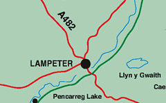 Lampeter map