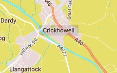 CRICKHOWELL map
