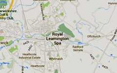 Leamington Spa map