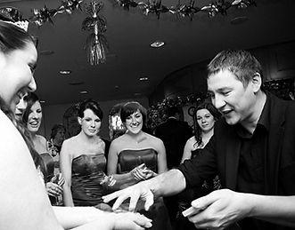 Dorian perfoming at a wedding reception
