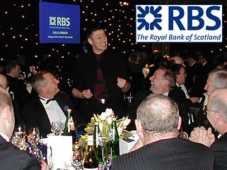 DORIAN entertaining at a function for RBS