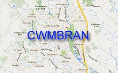 CWMBRAN map