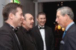 Dorian meeting HRH Prince Charles
